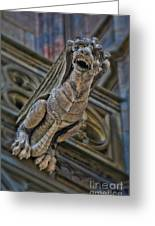 Barcelona Dragon Gargoyle Greeting Card