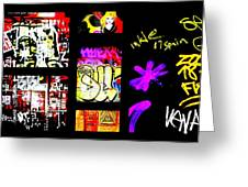 Barcelona Graffiti  Greeting Card by Funkpix Photo Hunter