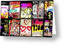 Barcelona Graffiti Wall  Greeting Card