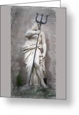 Barcelona - Neptune Statue Greeting Card
