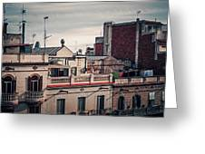 Barcelona Roofscape Greeting Card
