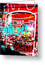 Barcelona Street Graffiti Greeting Card by Funkpix Photo Hunter