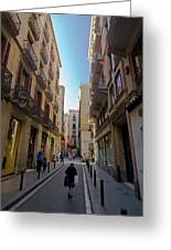 Barcelona Street Scene Greeting Card