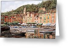 barche a Portofino Greeting Card