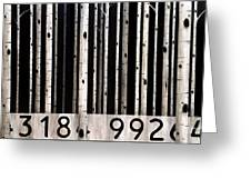 Barcode #19 Greeting Card