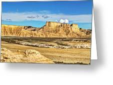 Bardenas Desert Panorama 3 Greeting Card