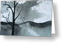 Bare Tree In Moonlight Greeting Card