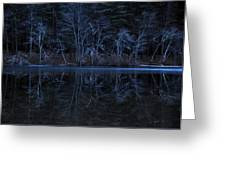Bare Trees Reflected Greeting Card