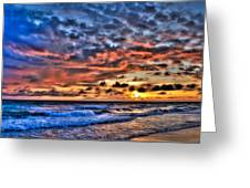 Barefoot Beach Sunset Greeting Card