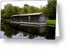 Barge House On The Erie Canal Greeting Card