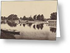 Barges At Oxford Greeting Card