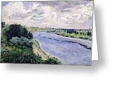 Barges On The Seine Greeting Card