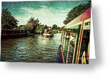 10946 Cruising On The Grand Union Canal Greeting Card
