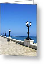 Bari Waterfront Greeting Card