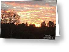 Barium Springs, Nc Sunset Greeting Card