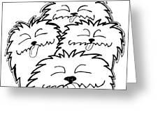 Bark Bark - Cute Dogs Greeting Card