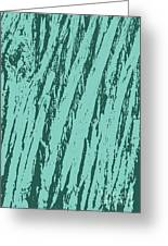 Bark Texture Turquoise Greeting Card