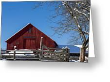 Barn And Blue Sky Greeting Card