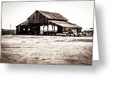 Barn And Irrigation Pipes Greeting Card