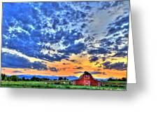 Barn And Sky Greeting Card