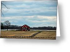 Barn And Split Rail Fence Greeting Card