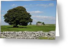 Barn And Tree Greeting Card