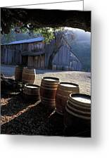 Barn And Wine Barrels Greeting Card