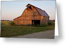 Barn At Early Dawn Greeting Card