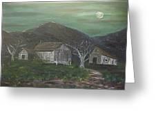 Barn At Night Greeting Card
