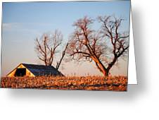 Barn At Sunrise Greeting Card