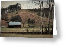 Barn At The Bottom Of The Hill Greeting Card