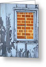 Barn Brick Window Greeting Card