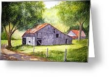 Barn By The Road Greeting Card