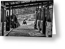 Barn Chores Greeting Card