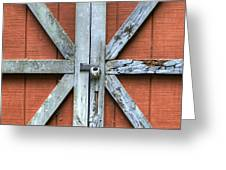 Barn Door 1 Greeting Card by Dustin K Ryan