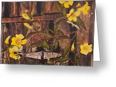 Barn Door Hinge Greeting Card