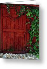 Barn Door With Ivy Greeting Card
