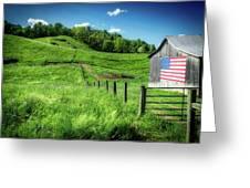 Barn Flag Greeting Card