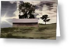 Barn II A Digital Painting Greeting Card