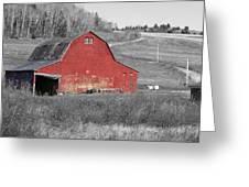 Barn In An Old Setting Greeting Card