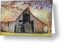 Barn Of The Indian Summer Greeting Card