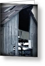 Barn In Blue Greeting Card