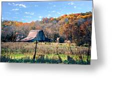 Barn In Liberty Mo Greeting Card