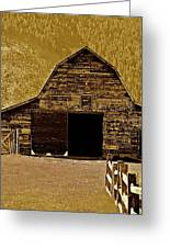 Barn In Sepia Greeting Card