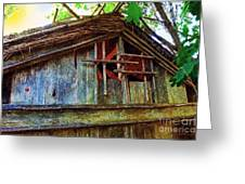 Barn In Summer Colors Greeting Card