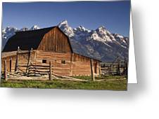Barn In The Mountains Greeting Card