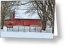 Barn In The Winter Greeting Card