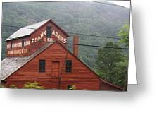 Barn In Vermont Along Amtrack Greeting Card