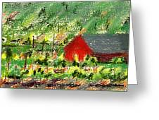 Barn In Vineyard Greeting Card