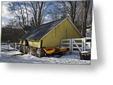 Barn In Winter Greeting Card